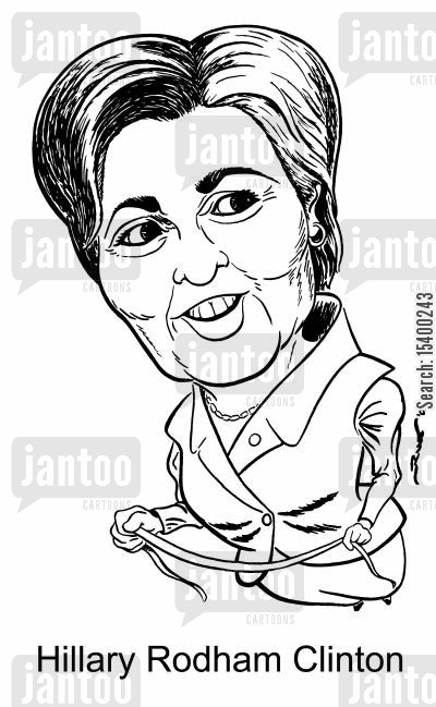 first lady cartoon humor: US Senator Hilary Rodham Clinton
