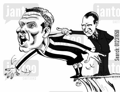 graham souness cartoon humor: Bellamy vs Souness.