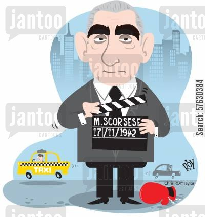 acted cartoon humor: Martin Scorsese.