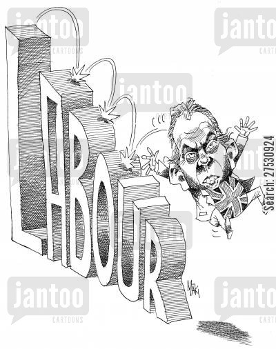 labour party cartoon humor: Tony Blair