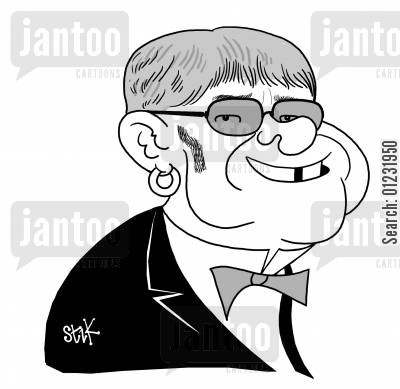 diva cartoon humor: Elton John.