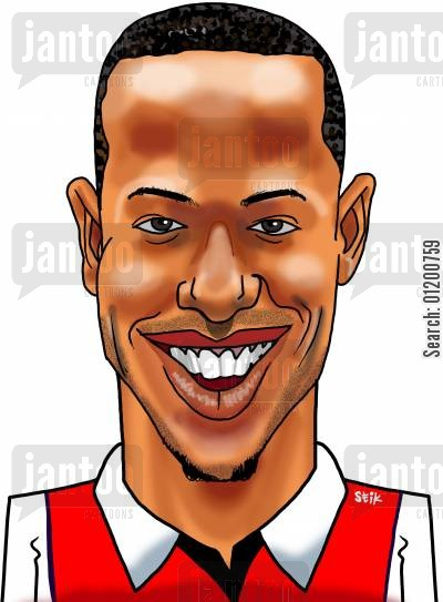 thierry henry cartoon humor: Footballers - Thierry Henry