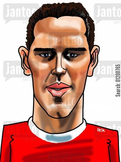liverpool cartoon humor: Footballers - Jamie Redknapp