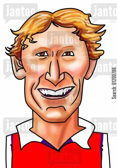 arsenal cartoon humor: Footballers - Ray Parlour