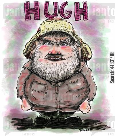 reality show cartoon humor: Hugh Rowland