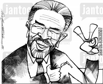 peace process cartoon humor: Peace out, mate!