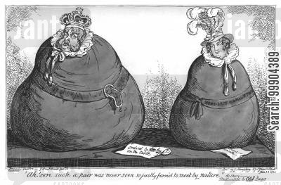 trial cartoon humor: George IV and the Adultery Trial of Queen Caroline