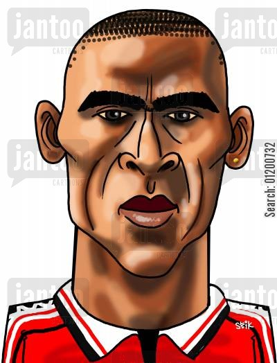 cole cartoon humor: Footballers - Andy Cole