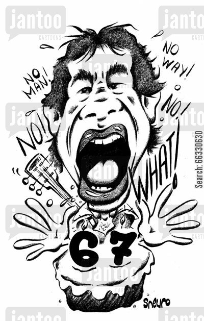 caricature cartoon humor: Mick Jagger