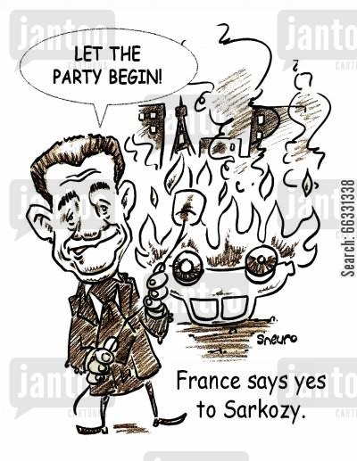 marshmallows cartoon humor: Nicolas Sarkozy: Let the party begin!