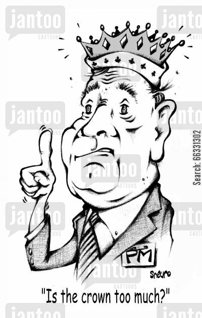 paul martin cartoon humor: Paul Martin: Is the crown too much?