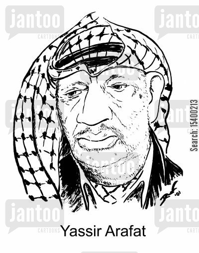 palestine cartoon humor: Yassir Arafat