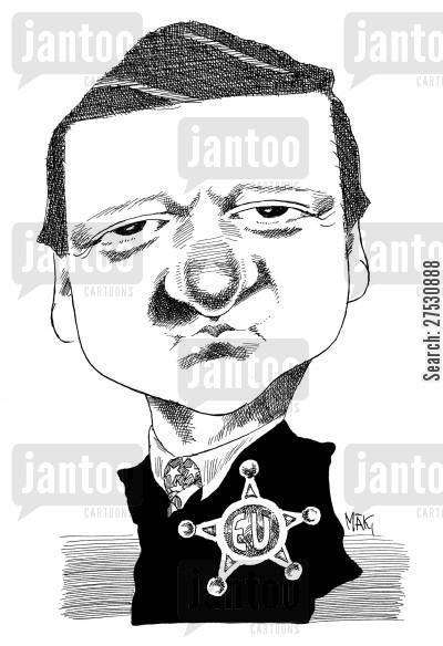 caricatures cartoon humor: Barroso.
