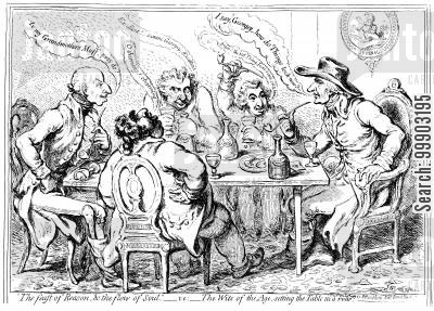 charles james fox cartoon humor: Radical Wits at Table
