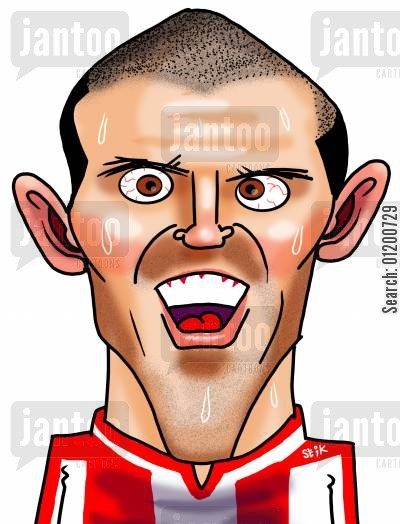 south hampton cartoon humor: Footballers - Alex Rae