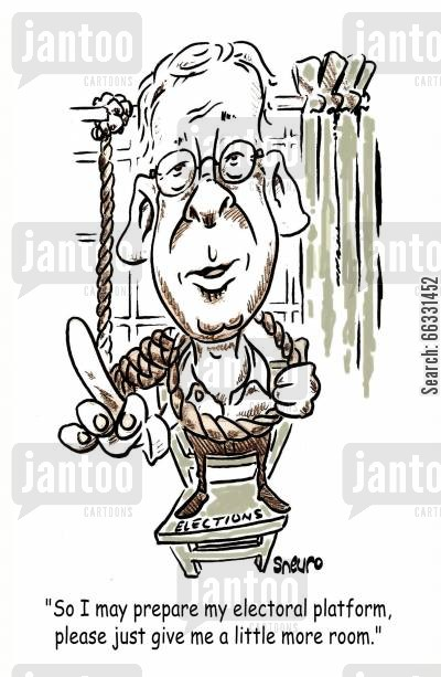 noose cartoon humor: Stephane Dion needs room to prepare his electoral platform.