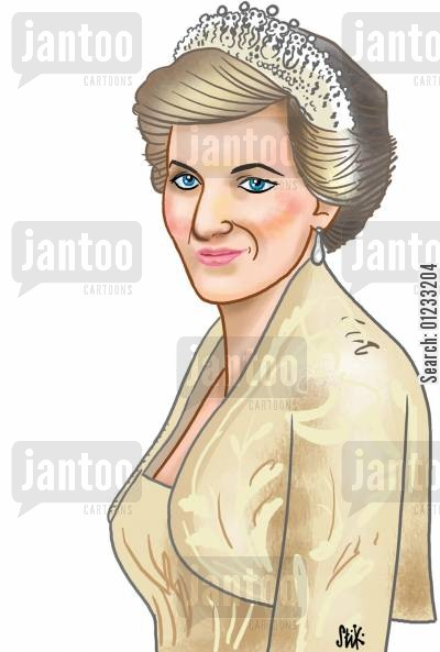 princess diana cartoon humor: Princess Diana.