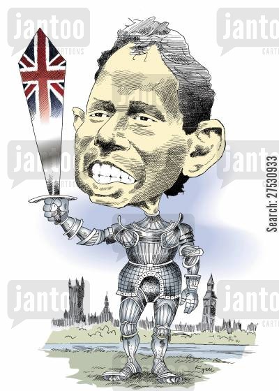 labour party cartoon humor: Tony Blair.