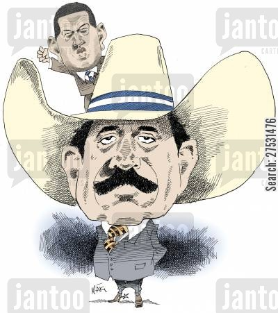 political leaders cartoon humor: Manuel Zelaya & Hugo Chavez