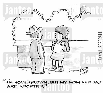 fosters cartoon humor: 'I'm home grown, but my Mom and Dad are adopted!'