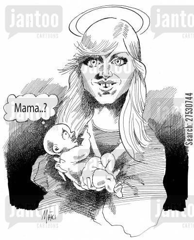 adopt cartoon humor: Madonna