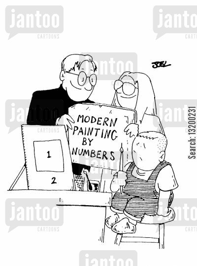 colorss cartoon humor: Modern Painting by Numbers