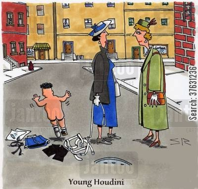 remove cartoon humor: Young Houdini,
