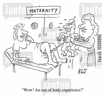 astral projection cartoon humor: Out of body experience