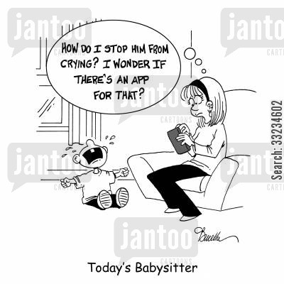 cries cartoon humor: Today's Babysitter