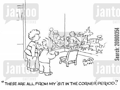 prodigies cartoon humor: 'These are all from my 'sit in the corner' period.'