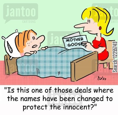 names changed cartoon humor: 'Is this one of those deals where the names have been changed to protect the innocent?'
