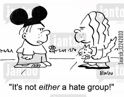 mouse ears cartoon humor: 'It's not either a hate group!'