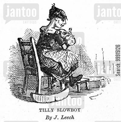 rocking chair cartoon humor: Tilly Slowboy