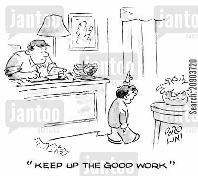 commended cartoon humor: 'Keep up the good work.'