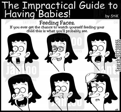 mealtime cartoon humor: Impractical Guide to Having Babies: 'Feeding Faces'