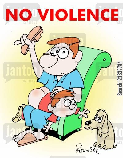 smacking cartoon humor: No violence.