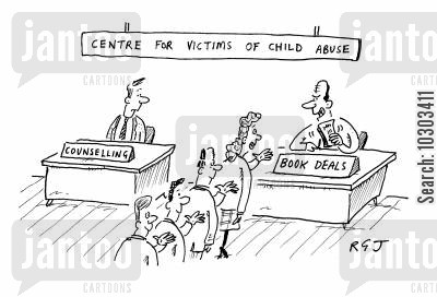 book deal cartoon humor: Centre for Victims of Child Abuse.