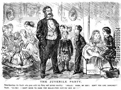 juvenile cartoon humor: Victorian Children's Party