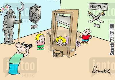 family outings cartoon humor: Fun at the museum!