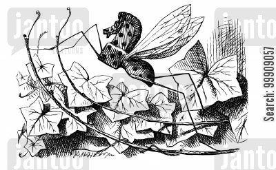 rocking horse fly cartoon humor: Alice Through the Looking Glass - Rocking-horse-fly.