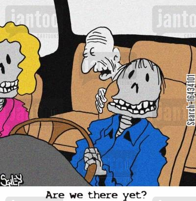 are we there yet cartoon humor: 'Are we there yet?'