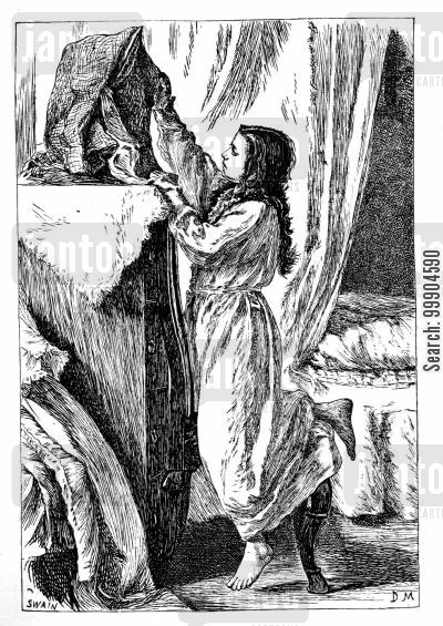 mrs gaskell cartoon humor: Illustration for 'Wives and Daughters', scene 2.