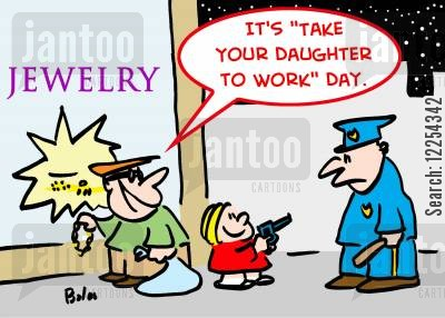 take your daughter to work day cartoon humor: 'It's 'Take Your Daughter to Work' Day.'