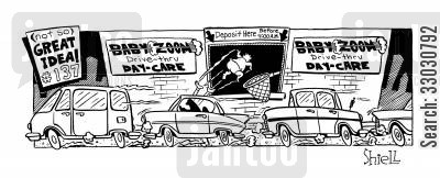 drive thru window cartoon humor: Drive-thru Day-care