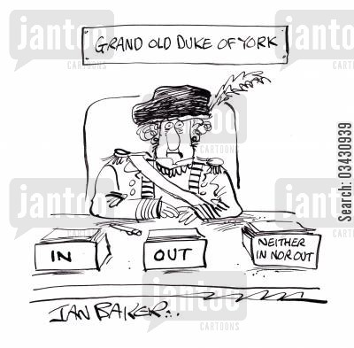 in boxes cartoon humor: Grand Old Duke Of York.