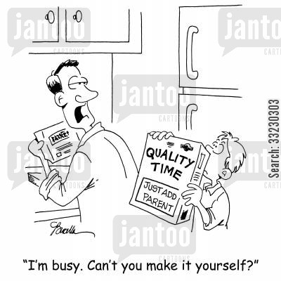negligence cartoon humor: 'I'm busy. Can't you make it yourself?'