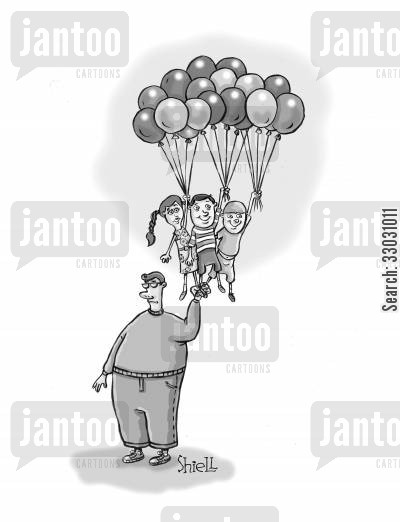 day out cartoon humor: Balloon Kids.
