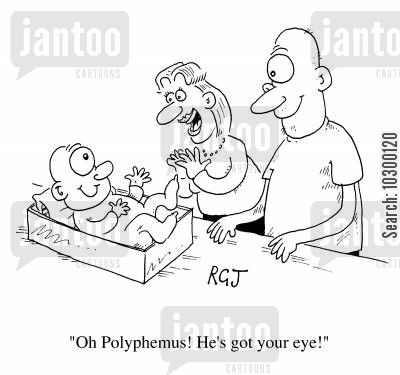 polyphemus cartoon humor: Polyphemous, he's got your eye