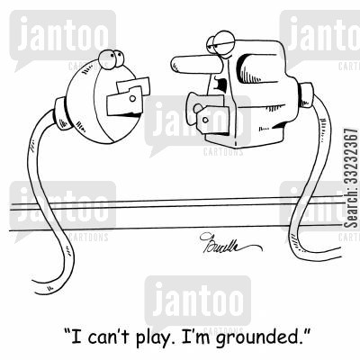 out to play cartoon humor: 'I can't play. I'm grounded.'