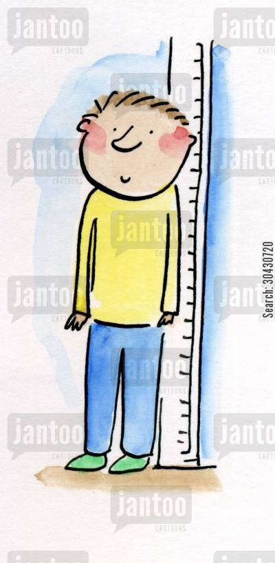 inches cartoon humor: Height Chart.